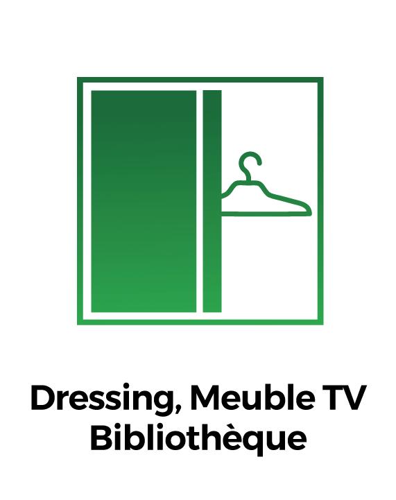 Dressing, Meuble TV, Bibliothèque